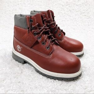 Timberland Red Lace Up Boots